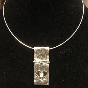 Sterling Silver Pearl Heart Necklace from Israel